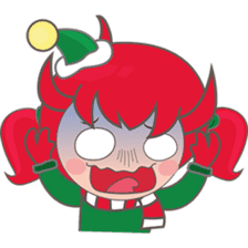 Mira, christmas girl sticker #2685911