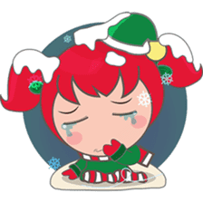 Mira, christmas girl sticker #2685913