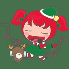 Mira, christmas girl sticker #2685917