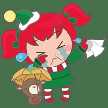 Mira, christmas girl sticker #2685919