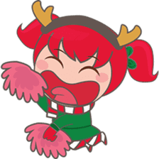 Mira, christmas girl sticker #2685921