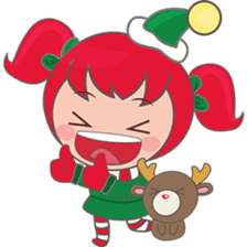 Mira, christmas girl sticker #2685922