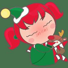 Mira, christmas girl sticker #2685926