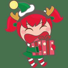 Mira, christmas girl sticker #2685928