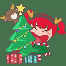Mira, christmas girl sticker #2685929
