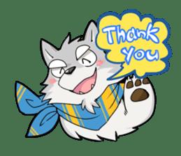 Gray wolf sticker #2694056