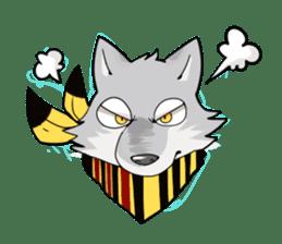 Gray wolf sticker #2694058