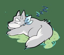 Gray wolf sticker #2694059