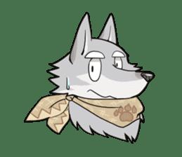 Gray wolf sticker #2694074
