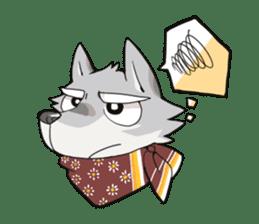Gray wolf sticker #2694075