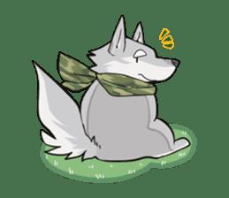 Gray wolf sticker #2694077