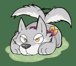 Gray wolf sticker #2694081