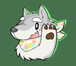 Gray wolf sticker #2694085