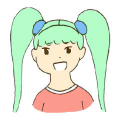 Sticker of tsuintei midoriko