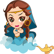 Cute arabian princess sticker pack sticker #2702864