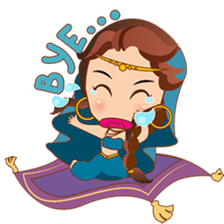 Cute arabian princess sticker pack sticker #2702870