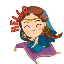 Cute arabian princess sticker pack sticker #2702872