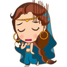 Cute arabian princess sticker pack sticker #2702874