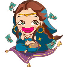 Cute arabian princess sticker pack sticker #2702883