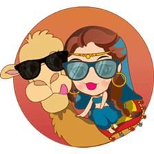 Cute arabian princess sticker pack sticker #2702885