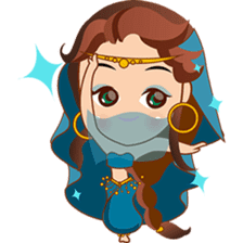 Cute arabian princess sticker pack sticker #2702889