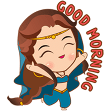 Cute arabian princess sticker pack sticker #2702898