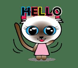 Baby Cat pink pink sticker #2709459