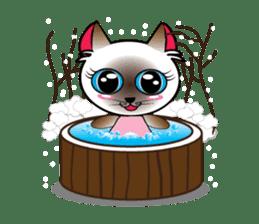 Baby Cat pink pink sticker #2709471