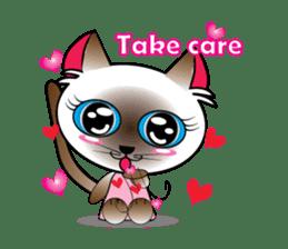 Baby Cat pink pink sticker #2709480