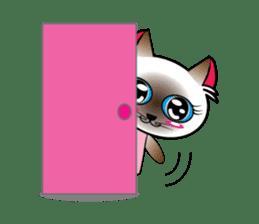 Baby Cat pink pink sticker #2709483