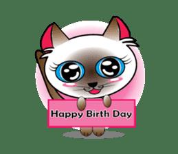 Baby Cat pink pink sticker #2709486