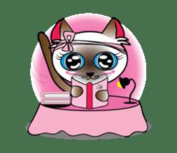 Baby Cat pink pink sticker #2709494