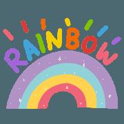 สติ๊กเกอร์ไลน์ everyday be rainbow