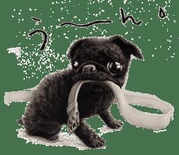 Boku Pug sticker #2715483
