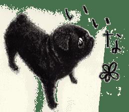 Boku Pug sticker #2715501