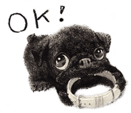 Boku Pug sticker #2715505