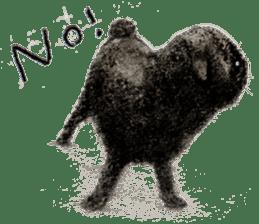 Boku Pug sticker #2715509