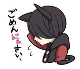 BLACK KITTEN sticker #2722714