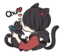 BLACK KITTEN sticker #2722727