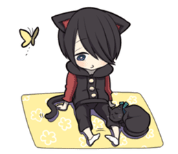BLACK KITTEN sticker #2722745
