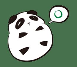 Knit panda sticker #2749044