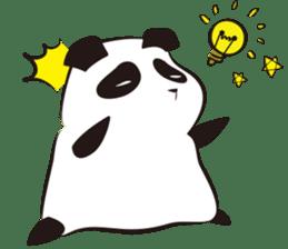 Knit panda sticker #2749050