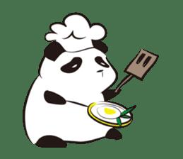Knit panda sticker #2749065