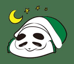 Knit panda sticker #2749067