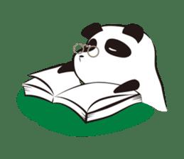 Knit panda sticker #2749069