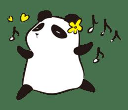 Knit panda sticker #2749070