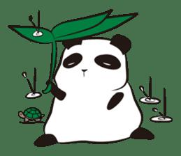Knit panda sticker #2749072