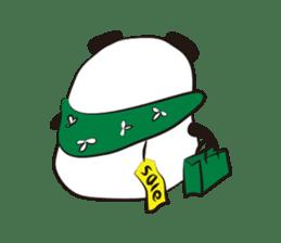 Knit panda sticker #2749073