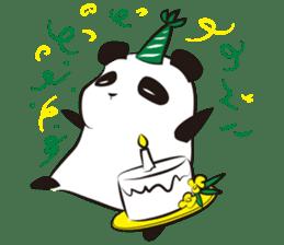 Knit panda sticker #2749074