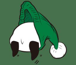 Knit panda sticker #2749075